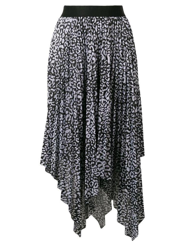 Nude pleated skirt - Black