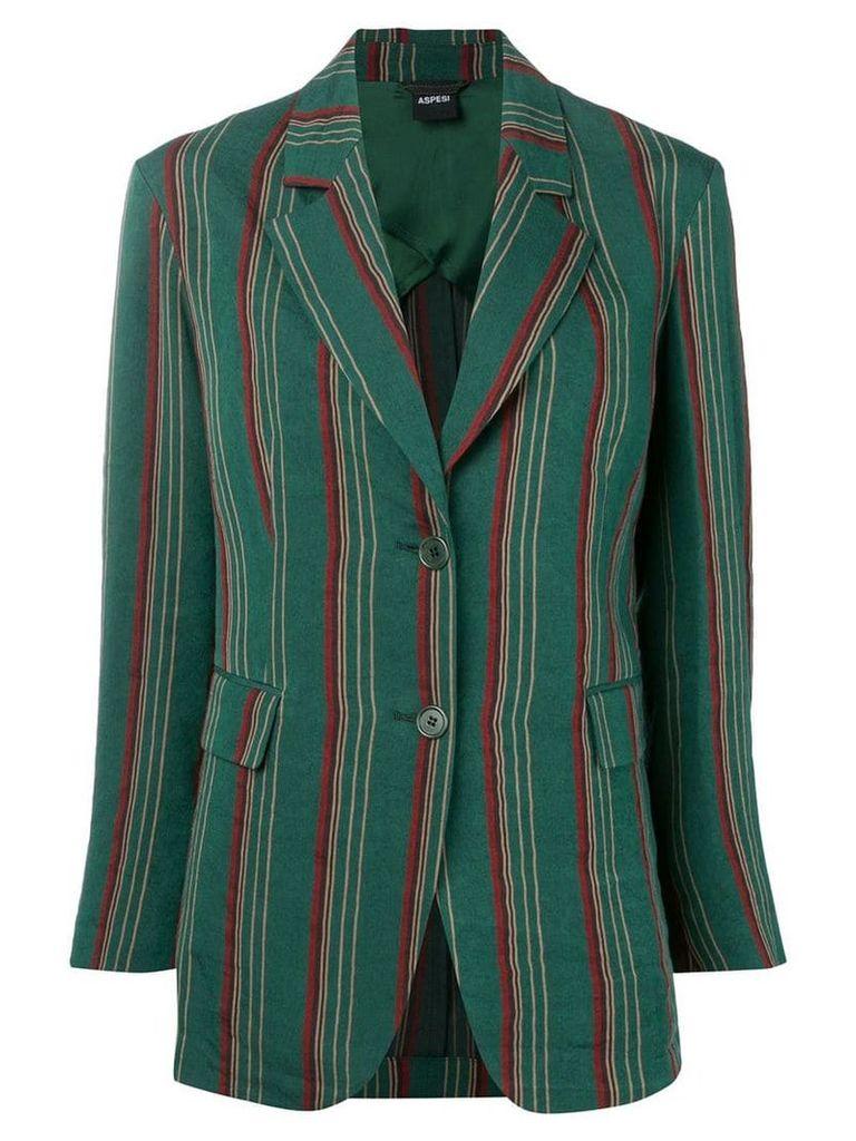 Aspesi striped blazer - Green