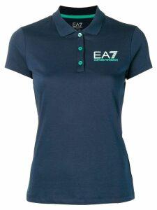 Ea7 Emporio Armani logo polo shirt - Blue