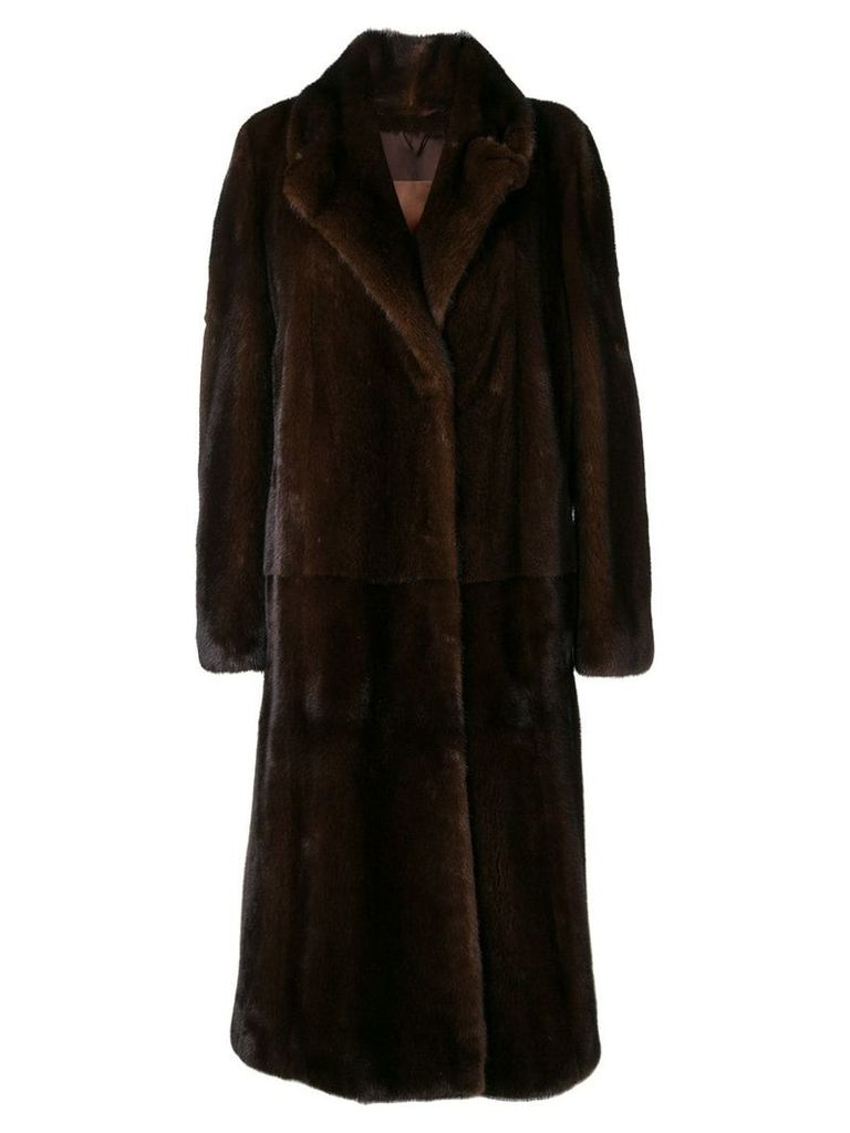 Liska Jess fur coat - Brown