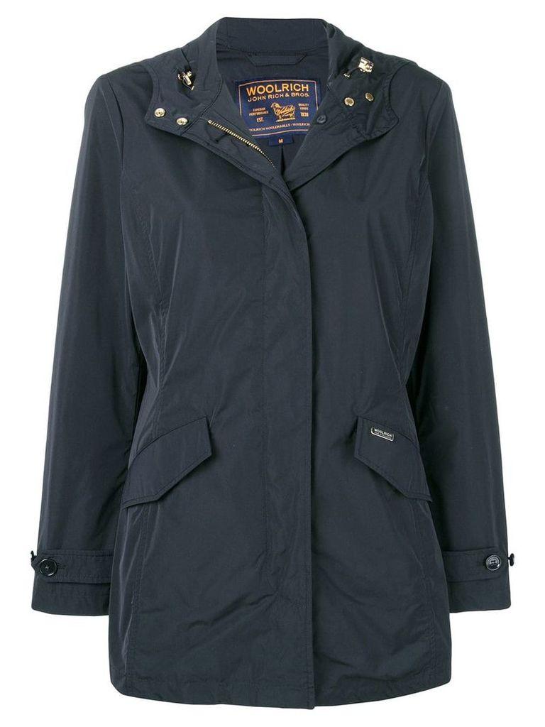Woolrich hooded coat - Blue