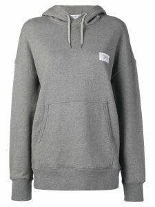 Givenchy logo patch hoodie - Grey