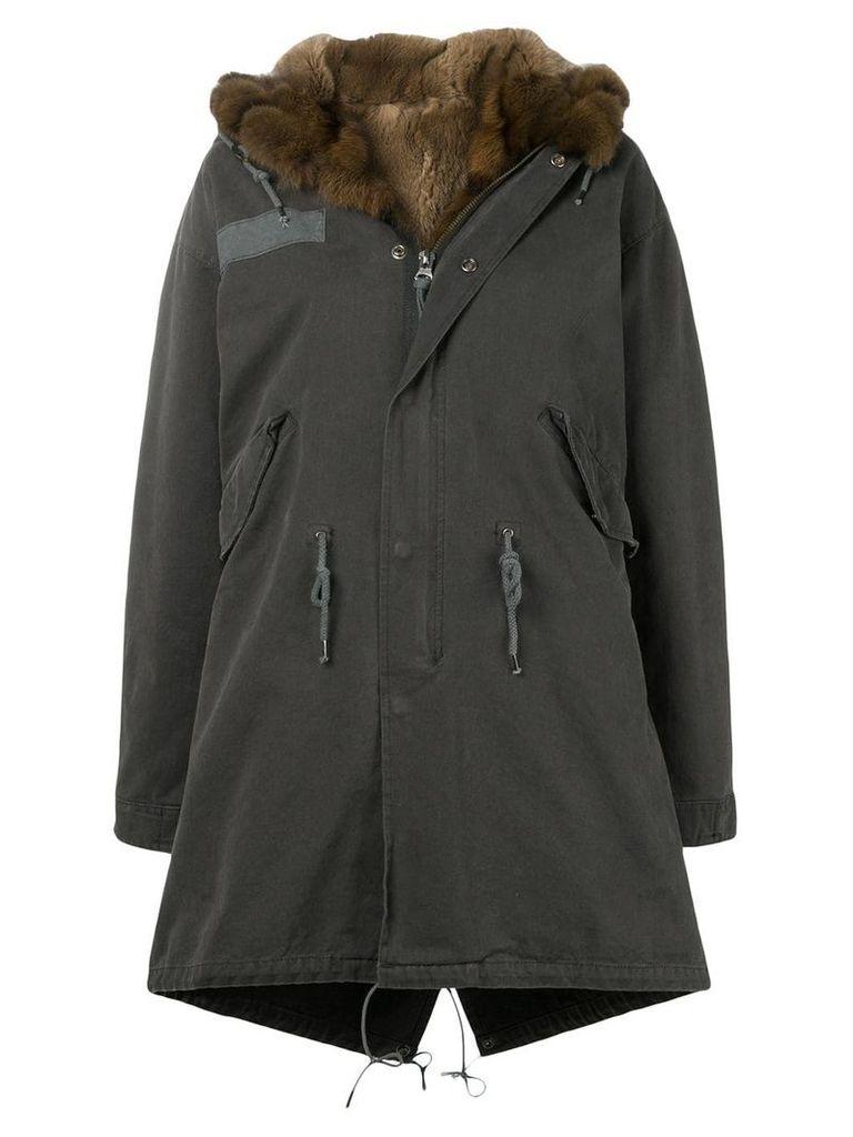 Liska fur-trim hooded parka - Grey