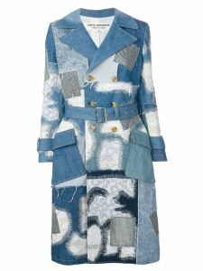 Junya Watanabe patchwork denim coat - Blue