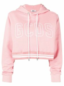 Gcds cropped logo hoodie - Pink