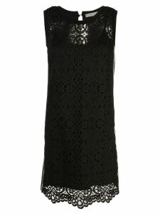 D.Exterior lace front mini shift dress - Black