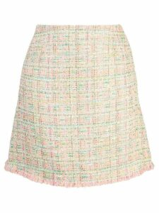 Edward Achour Paris tweed A-line skirt - Pink