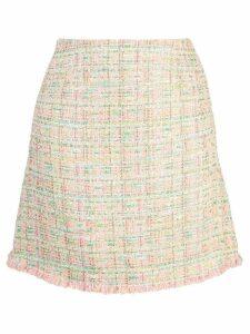 Edward Achour Paris tweed A-line skirt - Pink