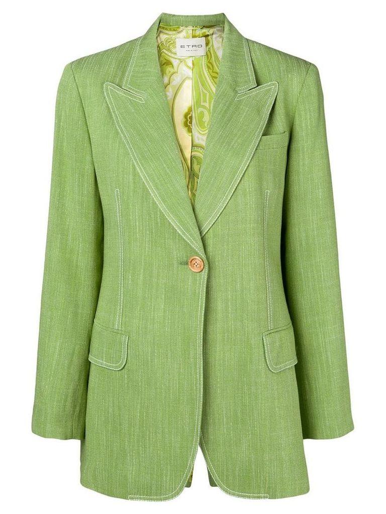 Etro single-breasted blazer - Green