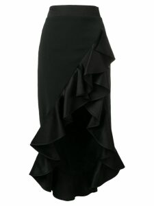 David Koma ruffled hem flounce skirt - Black