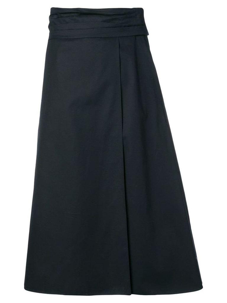Jil Sander Navy A-line skirt - Blue