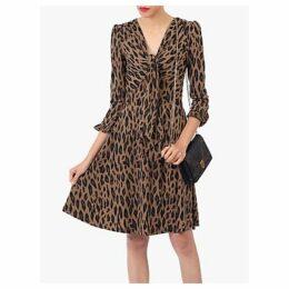 Jolie Moi Leopard Print Jersey Dress