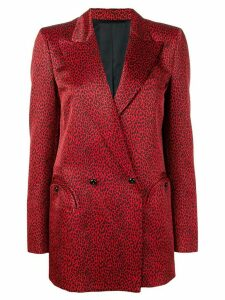Blazé Milano animal print blazer - Red
