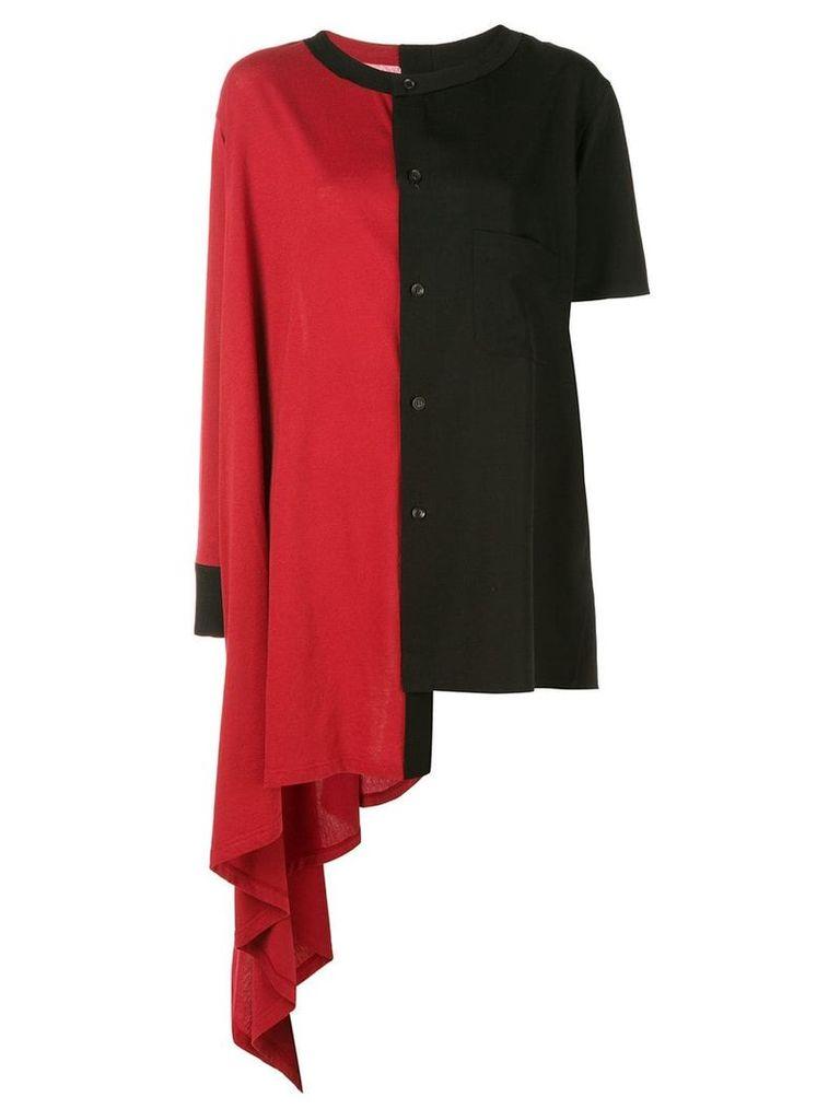 Yohji Yamamoto asymmetric top - Red