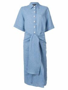 Joseph front knot shirt dress - Blue