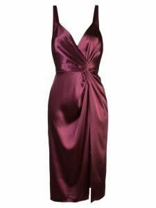 Jill Jill Stuart twisted front satin dress - Red