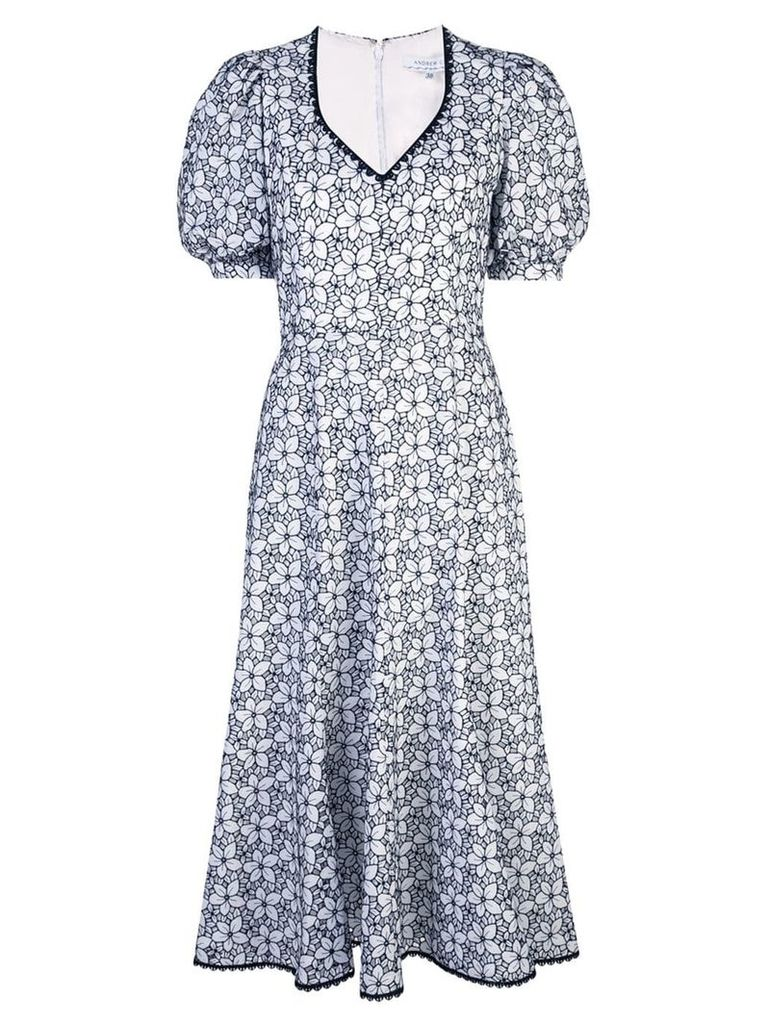 Andrew Gn floral-print dress - White