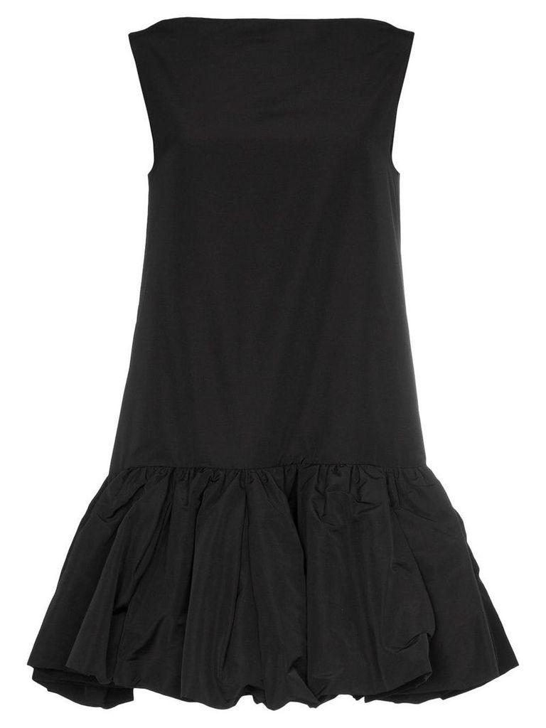 Valentino sleeveless drop hem mini dress - Black