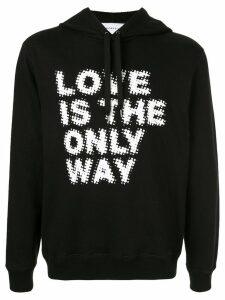 Ports V slogan hoodie - Black