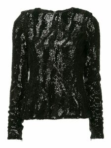 Rachel Gilbert sequined Dinah top - Black
