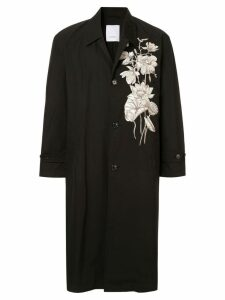 Ports V floral trench coat - Black