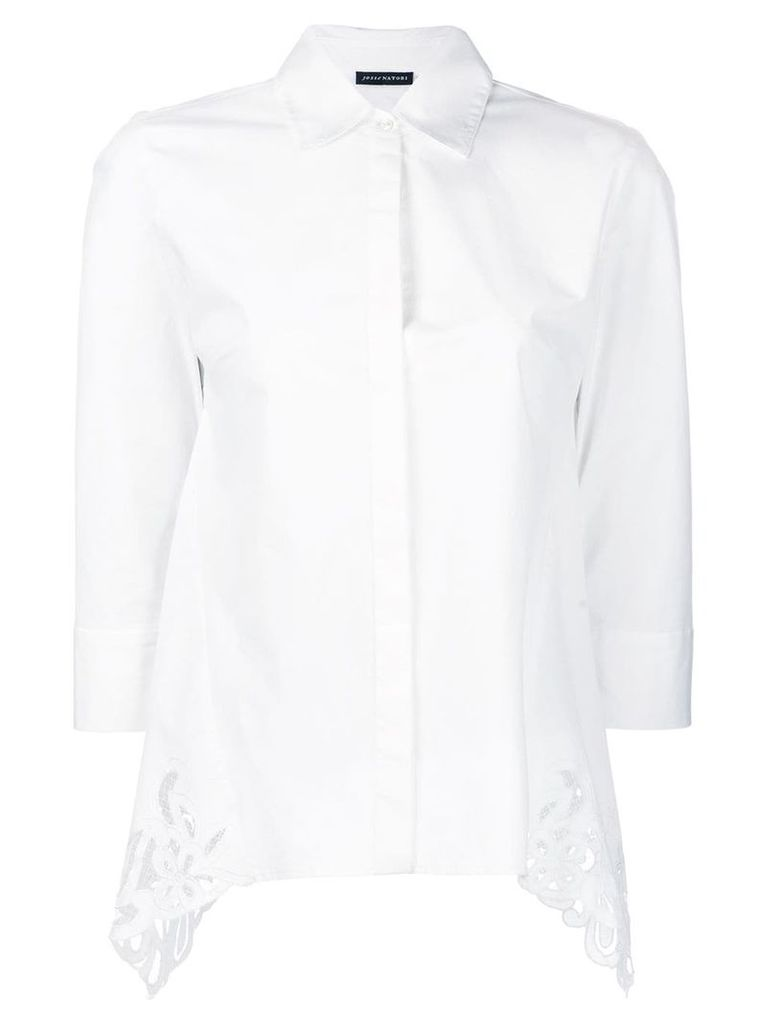 Josie Natori cotton poplin shirt - White