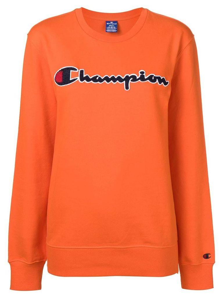 Champion crew neck logo sweatshirt - Orange
