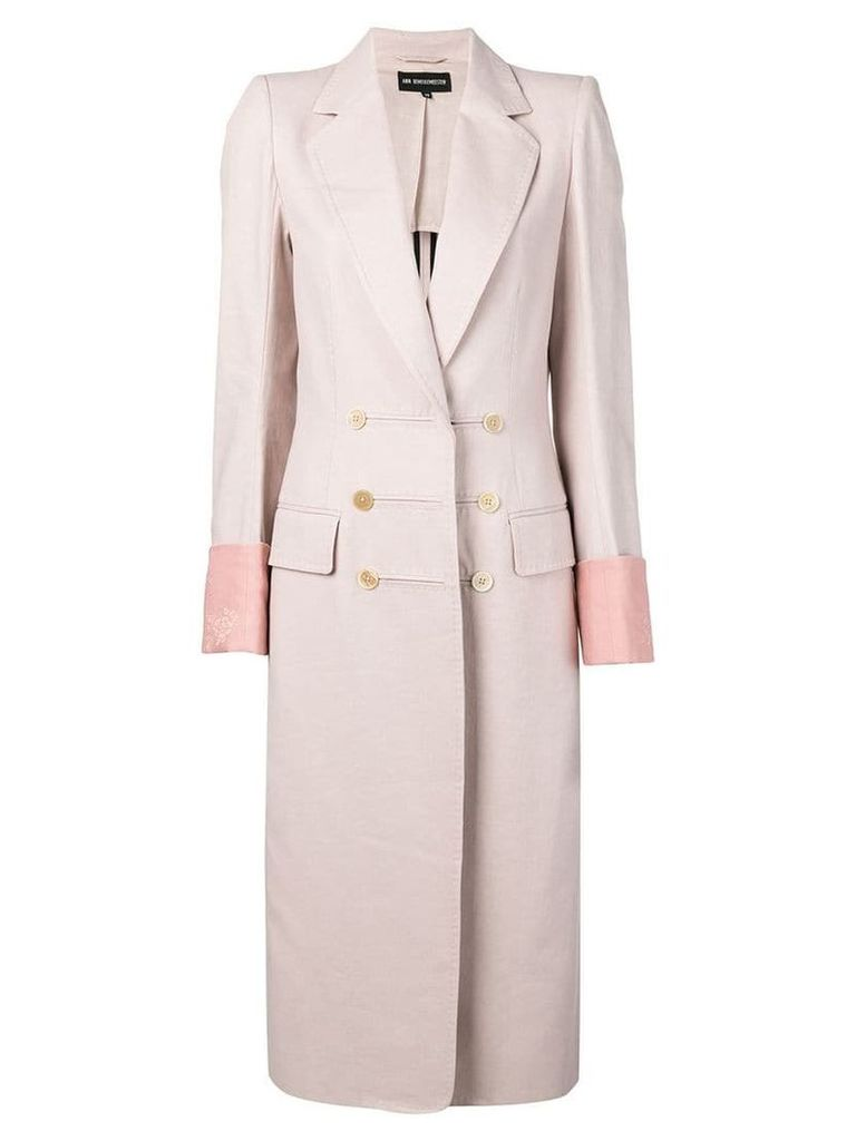 Ann Demeulemeester classic double-breasted coat - Pink