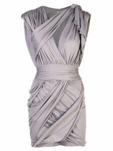 Balmain draped mini dress - Grey