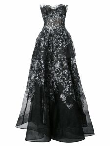 Marchesa off the shoulder gown - Black
