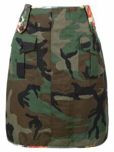 Harvey Faircloth floral detail army skirt - Green