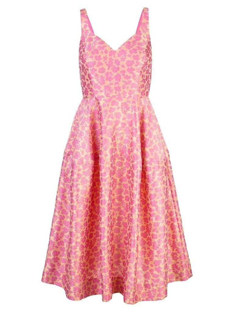 Jill Jill Stuart floral cloqué flared dress - Pink