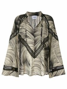 Dondup printed blouse - Black