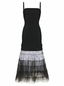 Christopher Kane Tulle and lace hem maxi-dress - Black