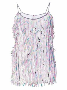 Ultràchic fringed cami top - Pink