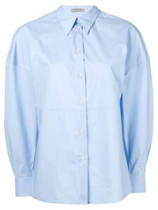 Bottega Veneta puff sleeve shirt - Blue