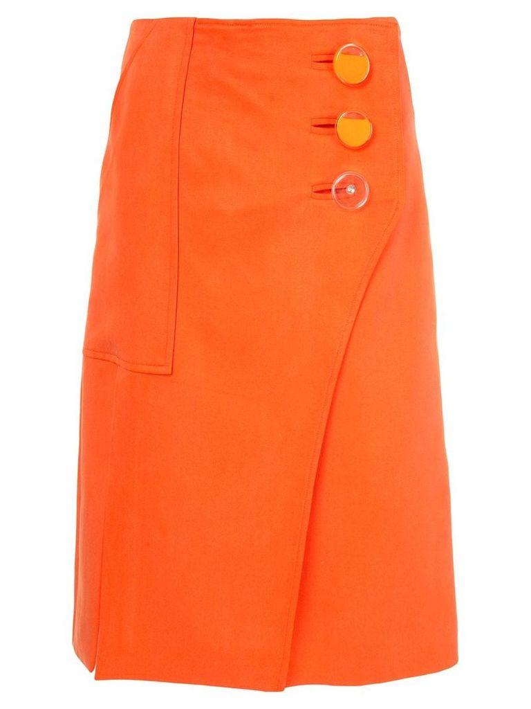 Christopher Esber button split skirt - Orange
