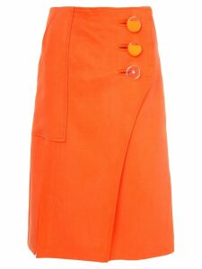 Christopher Esber button split skirt - Orange