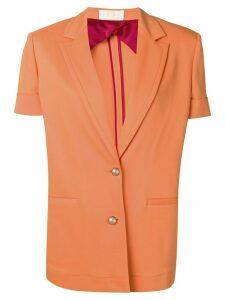 Sara Battaglia short sleeved blazer - Orange