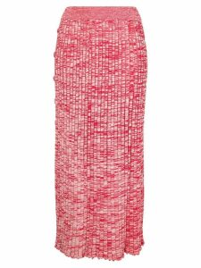 Christopher Esber speckled ribbed skirt - Red