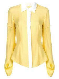 Sara Battaglia yellow blouse