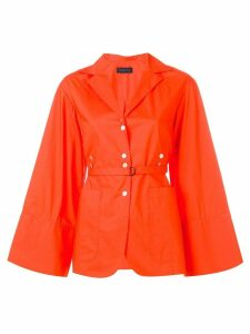 Eudon Choi flared blazer - Orange