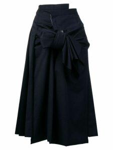 Comme Des Garçons oversized knot skirt - Blue