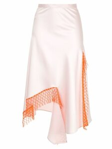 Christopher Esber lattice lace dual split skirt - Pink