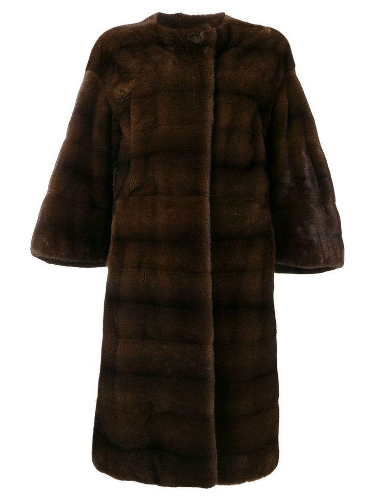 Liska classic fur coat - Brown