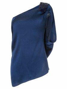 Roland Mouret Heartwell asymmetric top - Blue