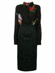 Antonio Marras floral shirt dress - Black