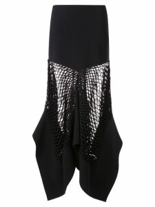 Dion Lee mesh panel skirt - Black