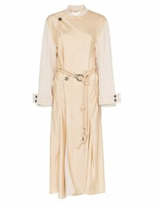 Chloé belted wrap trench coat - NEUTRALS