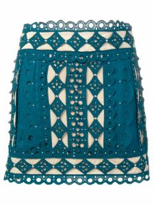 Zimmermann lace embroidered skirt - Blue